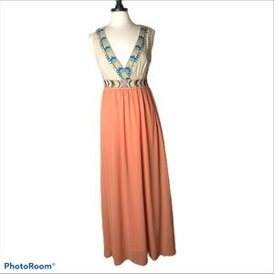 Flying Tomato Embroidered Maxi Dress Sz L